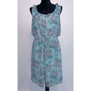 Hinge Nordstrom Floral Dress Blue SZ Large